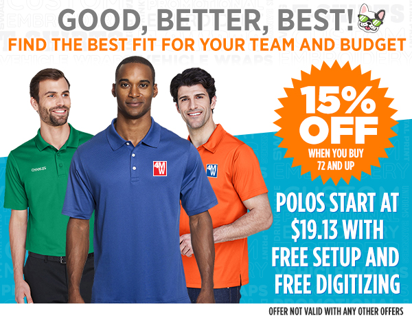 Good, Better, Best Options for Polos