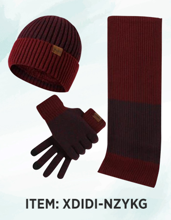 Winter Warmer Knit Hat Scarf Touchscreen Gloves
