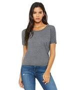 Ladies' Flowy Open Back T-Shirt