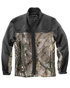 Men's 90% Polyester/10% Spandex Water Resistant Soft Shell Tall Motion Jacket