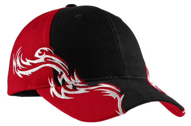 Port Authority - Colorblock Racing Cap with Flames
