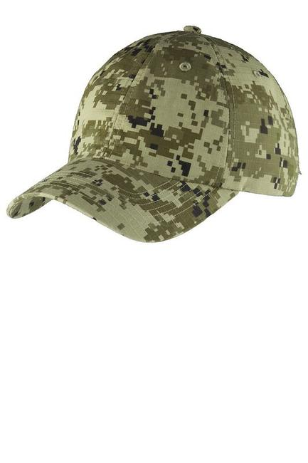Port Authority Digital Ripstop Camouflage Cap
