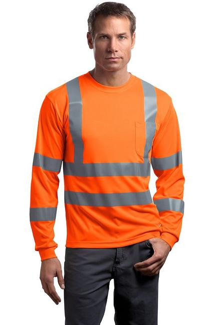 CornerStone - ANSI Class 3 Long Sleeve Snag-Resistant Reflective T-Shirt