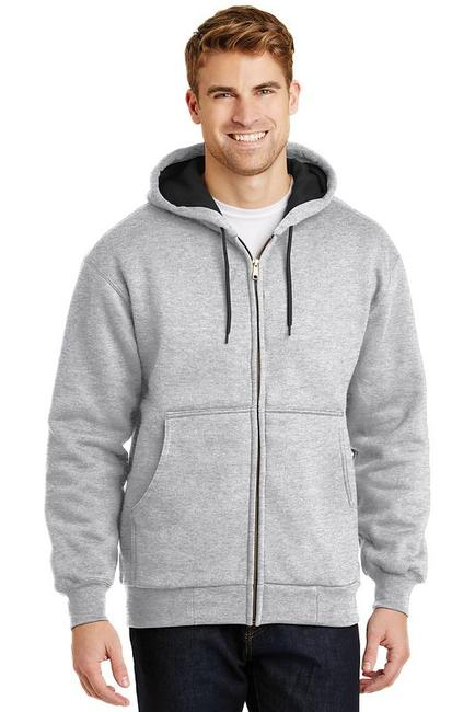 CornerStone - Heavyweight Full-Zip Hooded Sweatshirt with Thermal Lining