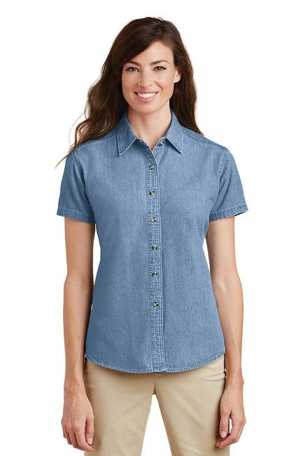 Port & Company - Ladies Short Sleeve Value Denim Shirt