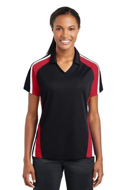Sport-Tek - Ladies Tricolor Micropique Sport-WickPolo