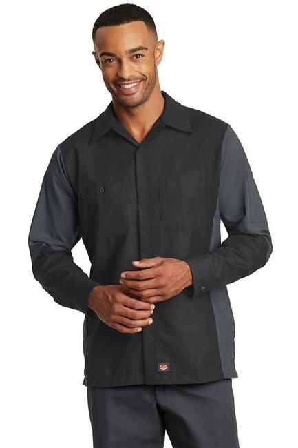 Red Kap Long Sleeve Ripstop Crew Shirt
