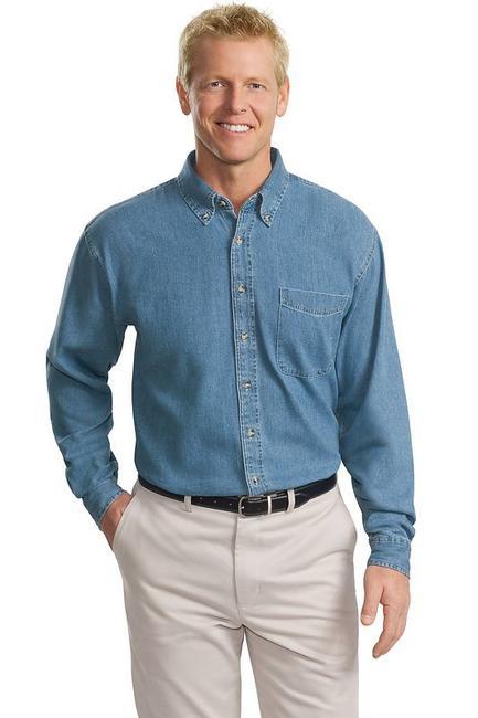 Port Authority - Tall Long Sleeve Denim Shirt