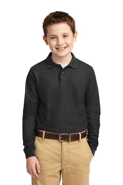 Port Authority - Youth Long Sleeve Silk Touch Polo