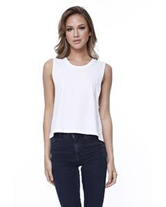 Ladies' Cotton Muscle Crop T-Shirt