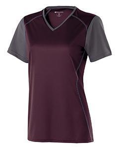 Ladies' Polyester Short Sleeve Piston Shirt