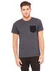 DRK GRY HTR/ BLK