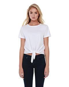 Ladies' 4.3 oz., 100% Cotton Tie Front T-Shirt