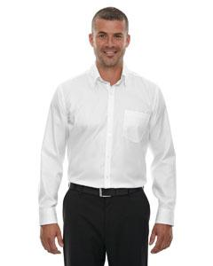 Men's Wrinkle-Free Two-Ply 80's Cotton Taped Stripe Jacquard Shirt