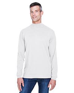 Adult Sueded Cotton Jersey Mock Turtleneck