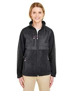 Ladies' Fleece Jacket with Quilted Yoke Overlay