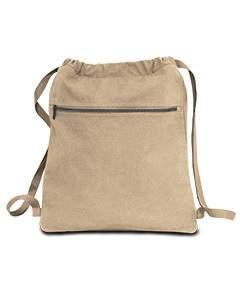 Seaside Cotton Pigment Dyed Drawstring Bag