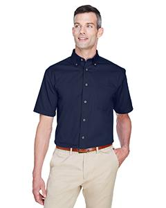 Men's Easy Blend Short-Sleeve Twill Shirt withStain-Release
