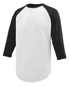 Youth Wicking Polyester 3/4 Raglan Sleeve T-Shirt