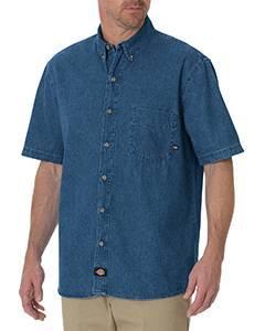 Men's Short-Sleeve Denim Shirt