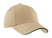Port Authority - Sandwich Bill Cap with Striped Closure