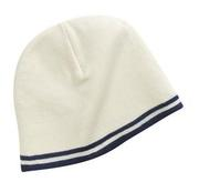Port & Company - Fine Knit Skull Cap with Stripes
