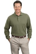 Port Authority - Long Sleeve Pique Knit Polo
