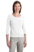 Port Authority - Ladies Modern Stretch Cotton 3/4-Sleeve Scoop Neck Shirt