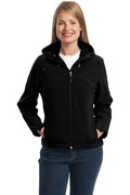 Port Authority - Ladies Textured Hooded Soft Shell Jacket