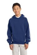 Sport-Tek - Youth Sleeve Stripe Pullover Hooded Sweatshirt