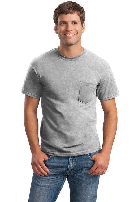 Gildan - Ultra Cotton 100% Cotton T-Shirt with Pocket