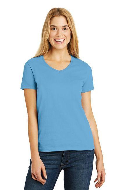 HanesLadies ComfortSoft V-Neck T-Shirt