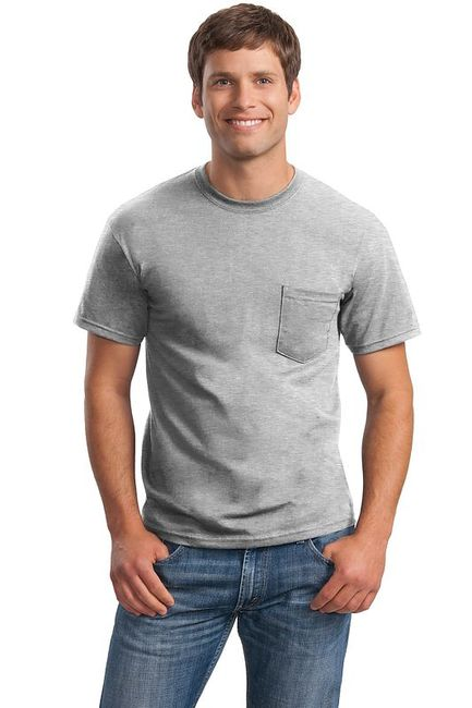 Gildan - DryBlend 50 Cotton/50 DryBlendPoly Pocket T-Shirt