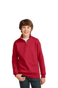 JERZEES Youth NuBlend; 1/4-Zip Cadet Collar Sweatshirt
