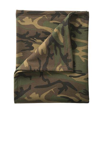 Port & Company Core Fleece Camo Sweatshirt Blanket