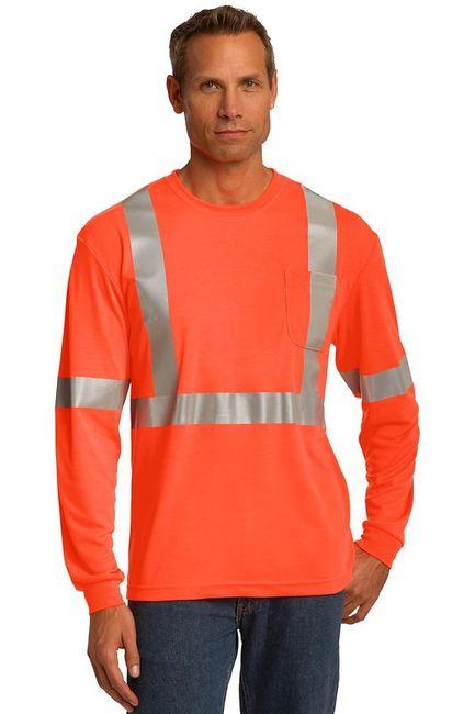 CornerStone ANSI 107 Class 2 Long Sleeve Safety T-Shirt