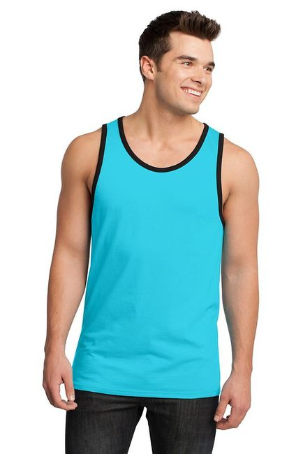 District - Young Mens Cotton Ringer Tank