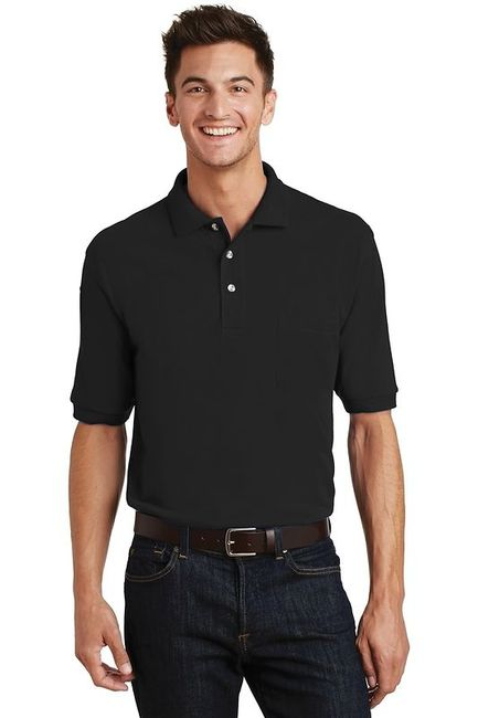 Port Authority - Pique Knit Polo with Pocket