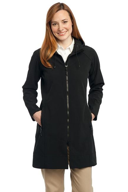 Port Authority - Ladies Long Textured Hooded Soft Shell Jacket