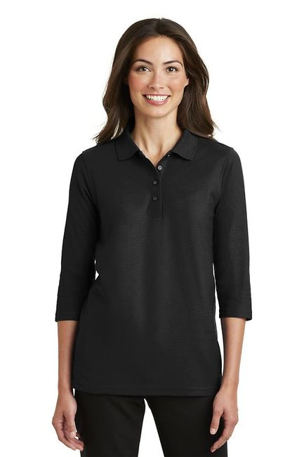 Port Authority - Ladies Silk Touch 3/4-Sleeve Polo