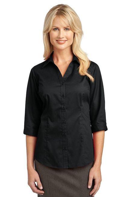 IMPROVED Port Authority Ladies 3/4-Sleeve Blouse