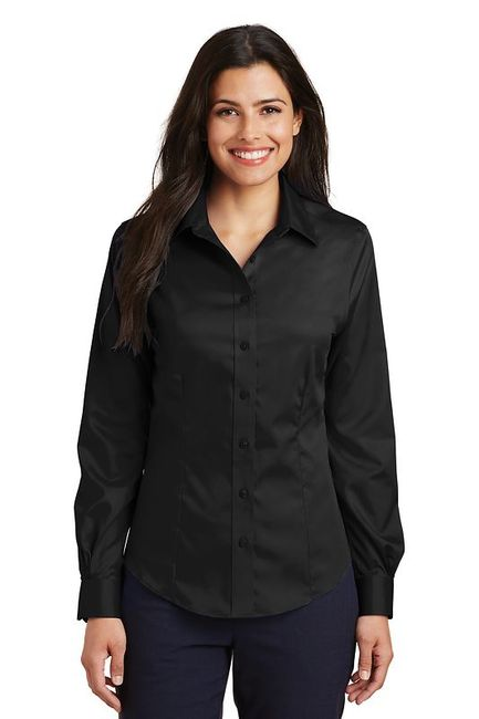 Port Authority - Ladies Long Sleeve Non-Iron Twill Shirt