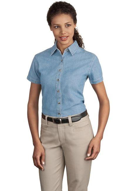 Port & Company - Ladies Short Sleeve Value Denim Shirt