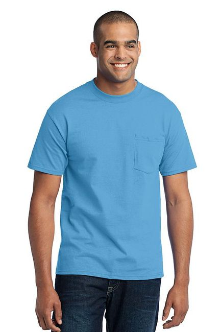 Port & Company - 50/50 Cotton/Poly T-Shirt with Pocket