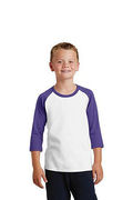 Port & Company Youth Core Blend 3/4-Sleeve Raglan Tee