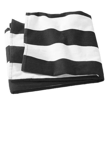 Port & Company Cabana Stripe Beach Towel