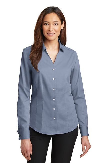 Red House - Ladies French Cuff Non-Iron Pinpoint Oxford