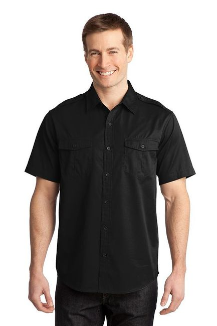 Port Authority - Stain-Resistant Short Sleeve Twill Shirt