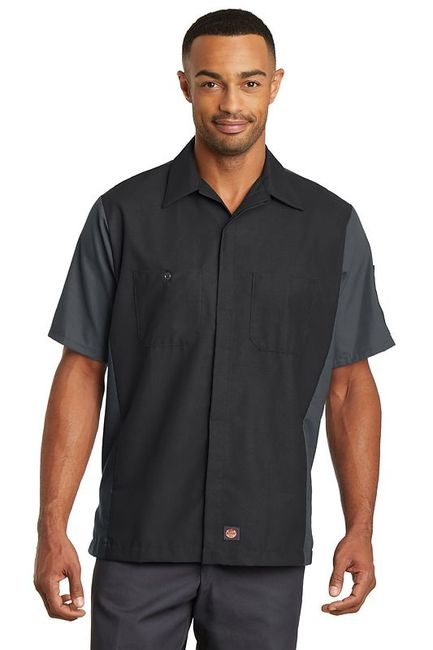 Red Kap Short Sleeve Ripstop Crew Shirt