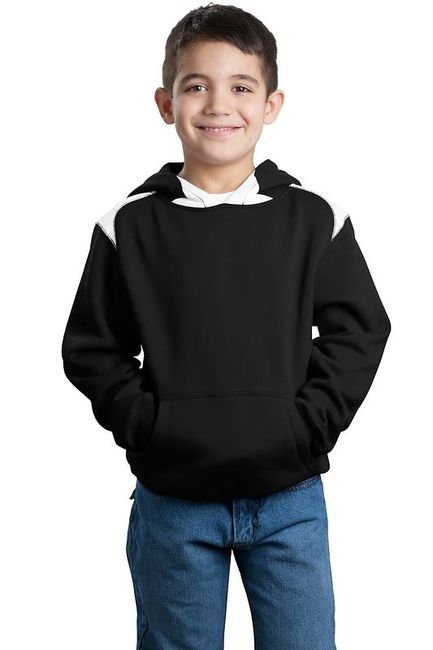 Sport-Tek - Youth Pullover Hooded Sweatshirt with Contrast Color